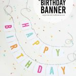 Free Printable Birthday Banner | Printables, Templates And Fonts   Free Printable Birthday Banner