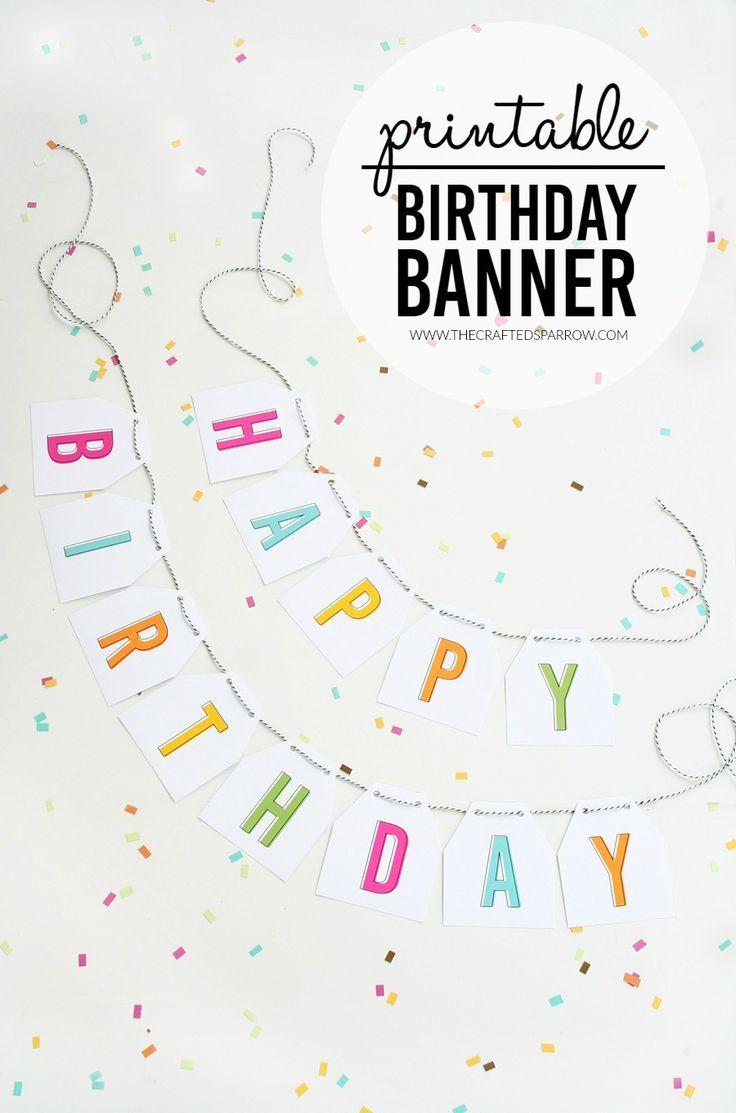 Free Printable Birthday Banner | Printables, Templates And Fonts - Free Printable Birthday Banner
