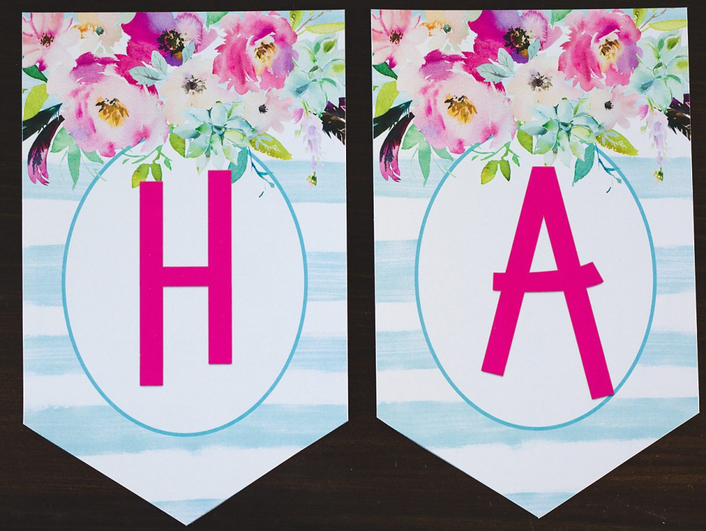 Free Printable Birthday Banner - Six Clever Sisters Regarding Free - Free Printable Birthday Banner