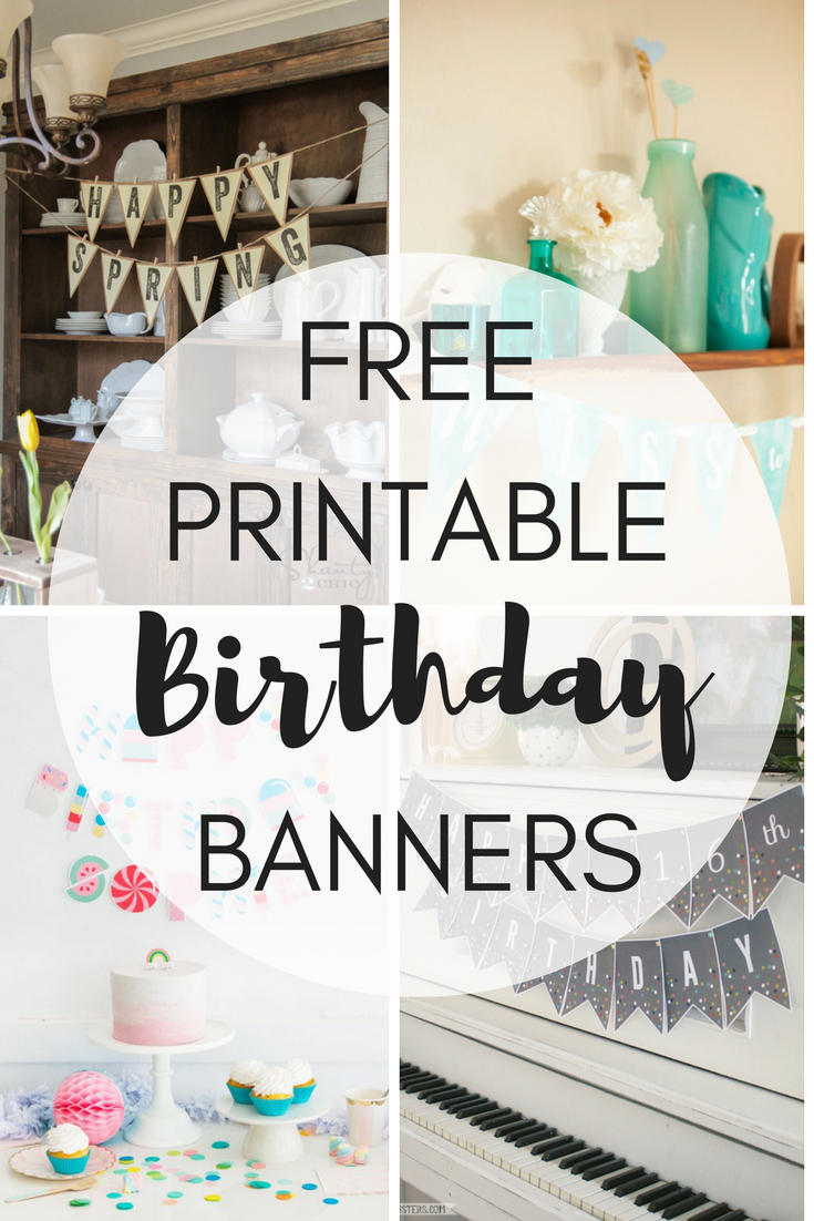 Free Printable Birthday Banners - The Girl Creative - Free Printable Little Mermaid Birthday Banner