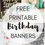 Free Printable Birthday Banners – The Girl Creative – Free Printable Princess Birthday Banner