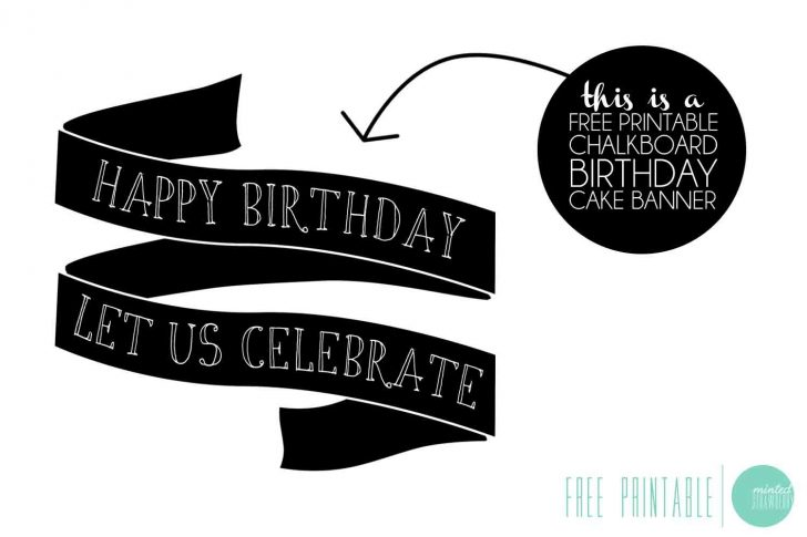 Free Printable Birthday Cake