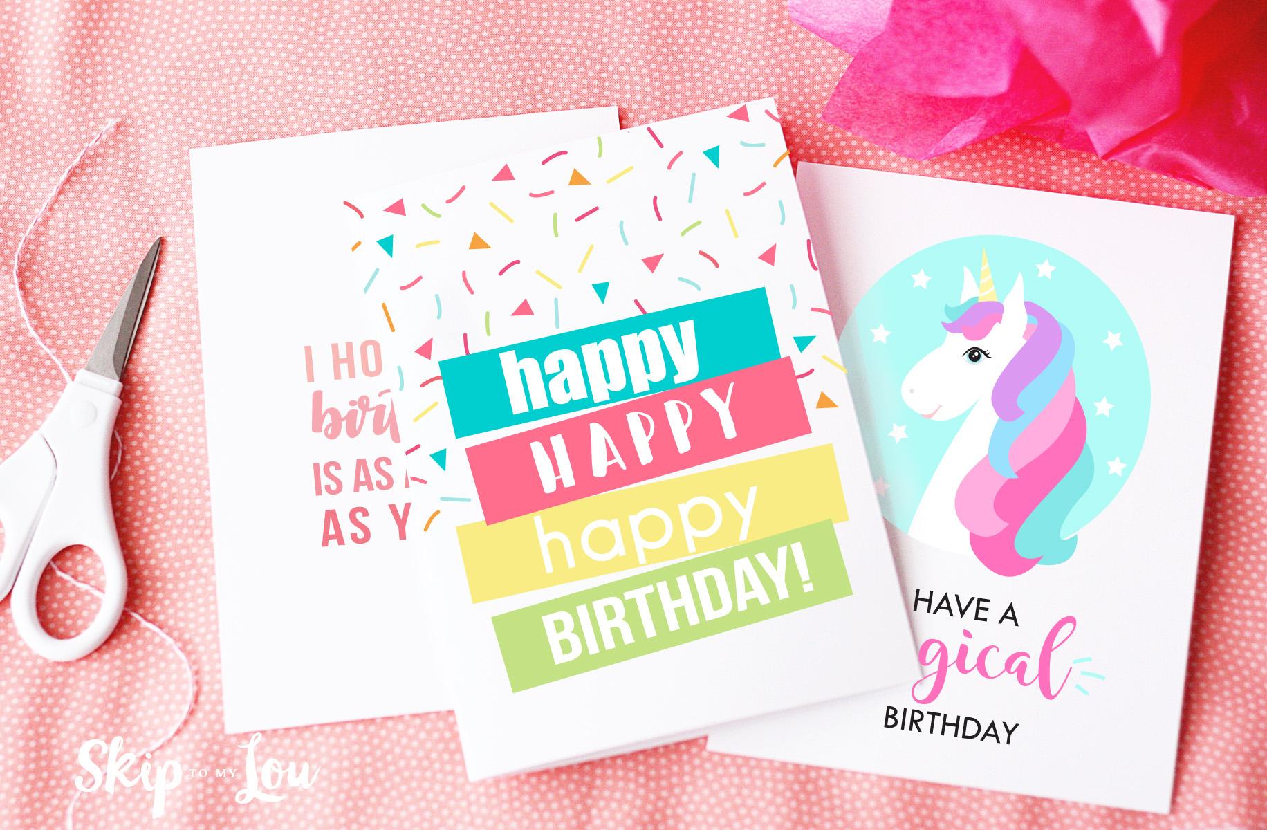 Free Printable Birthday Cards | Skip To My Lou - Free Printable Birthday Cards For Her