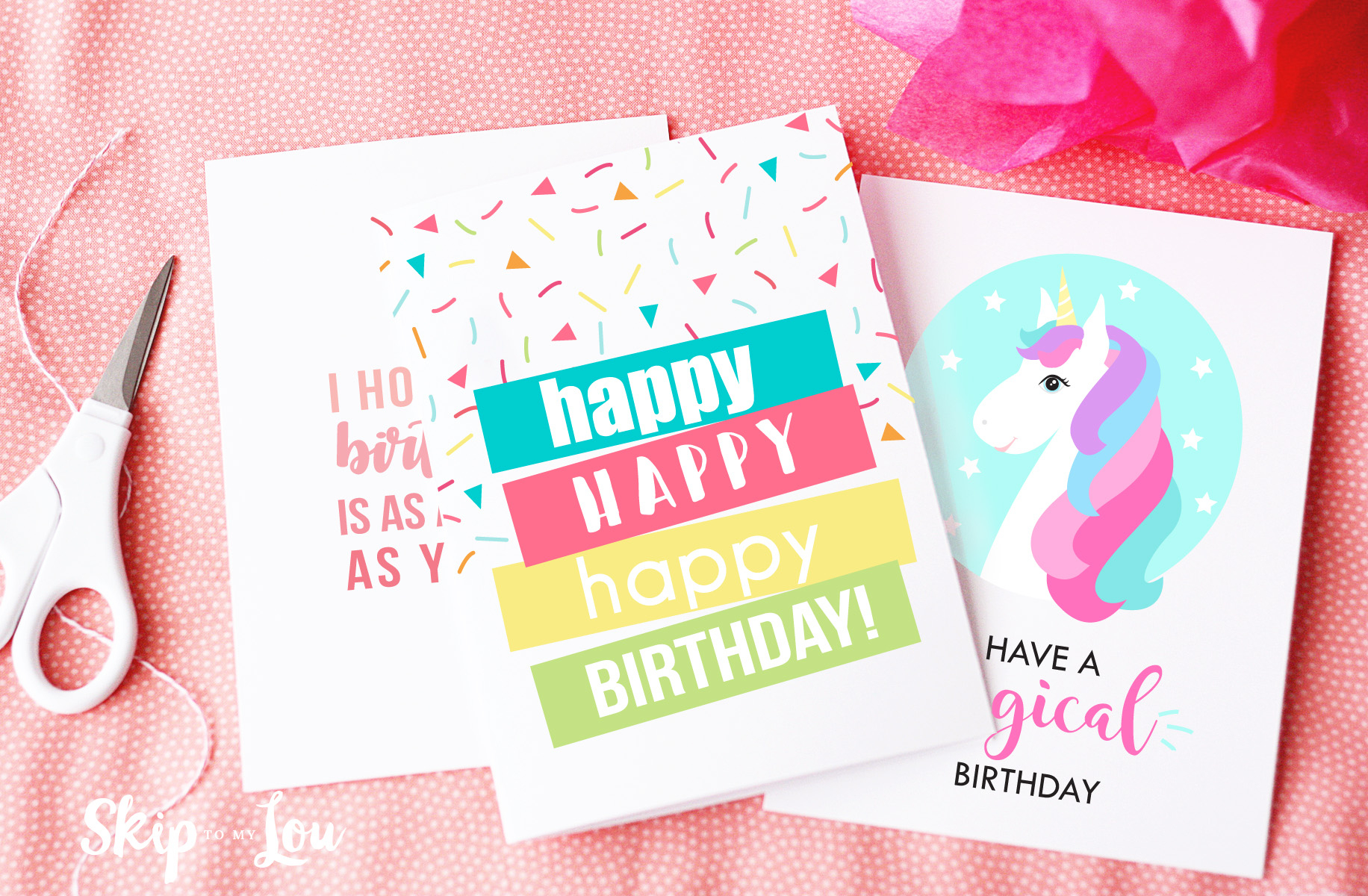 Free Printable Birthday Cards | Skip To My Lou - Free Printable Birthday Cards For Wife