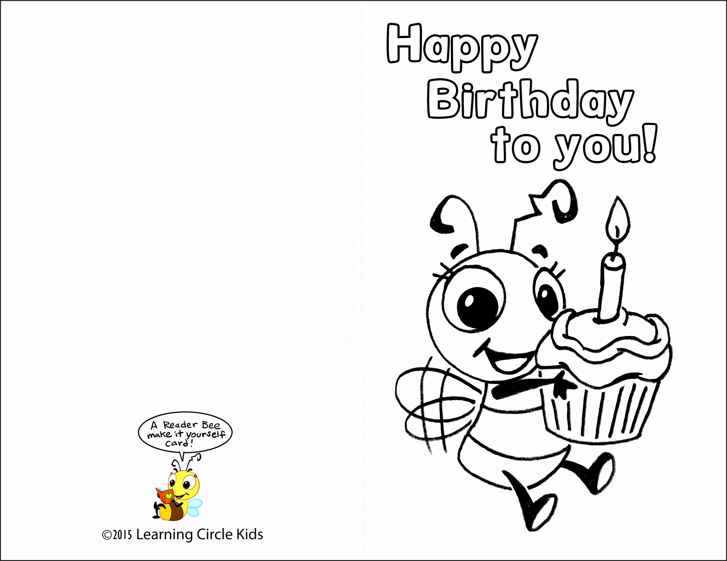Free Printable Birthday Cards To Color - Printable Cards - Free Printable Greeting Cards