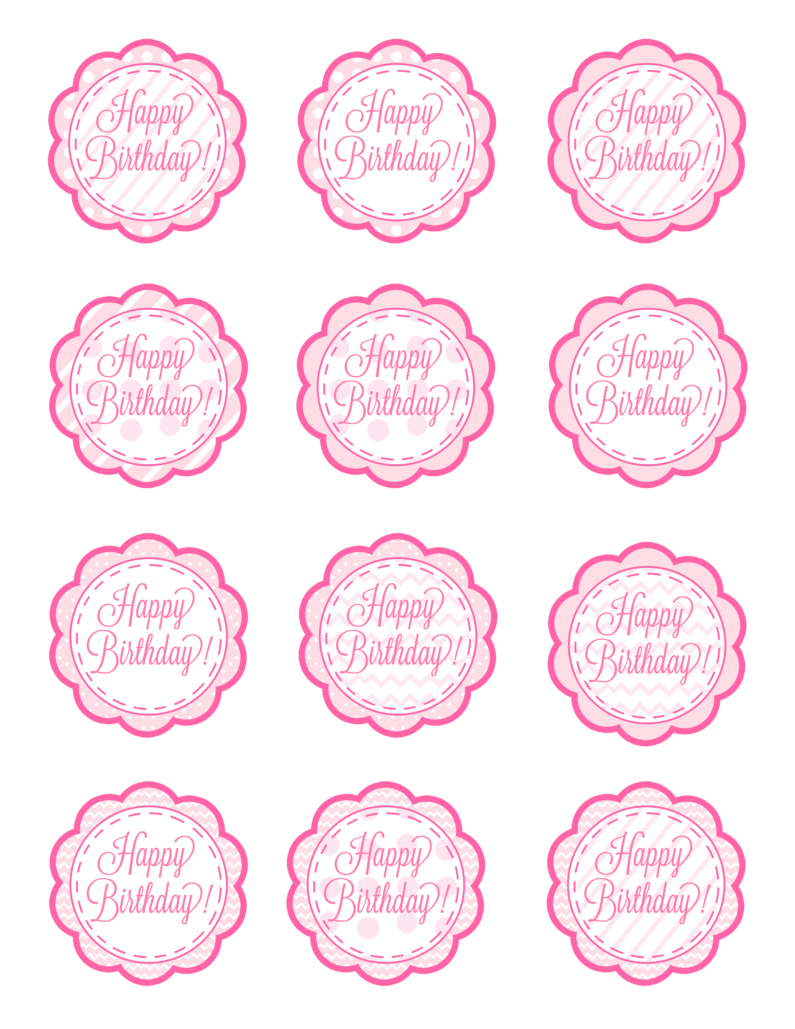 Free Printable Birthday Cupcake Picks - 15.4.kaartenstemp.nl • - Cupcake Topper Templates Free Printable