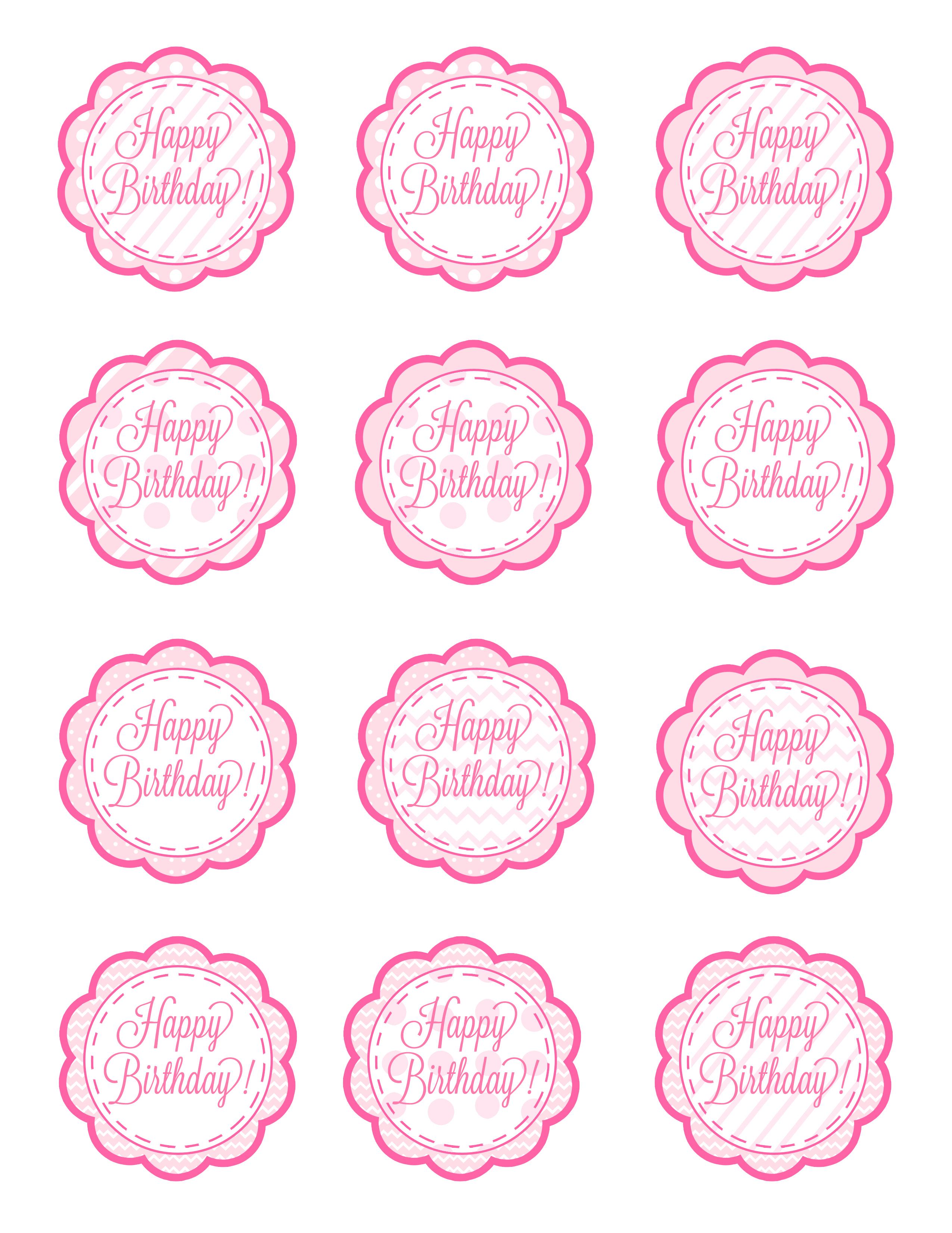 Free Printable Birthday Cupcake Picks - 15.4.kaartenstemp.nl • - Free Printable Cupcake Toppers