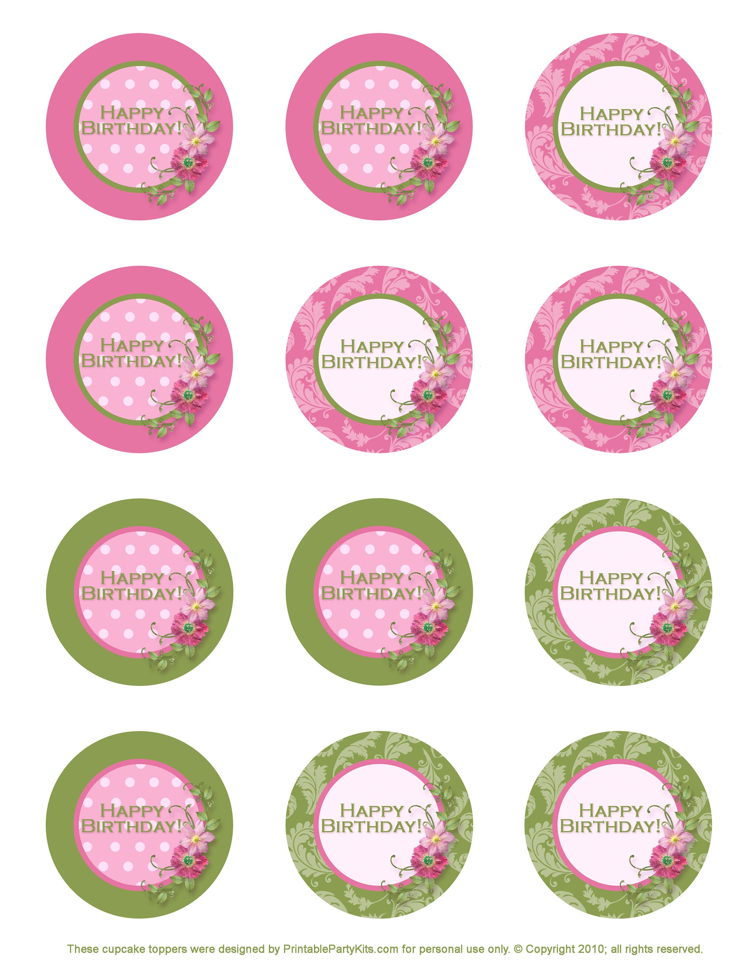 Free Printable Birthday Cupcake Toppers | Crafts | Pinterest - Free Printable First Communion Cupcake Toppers