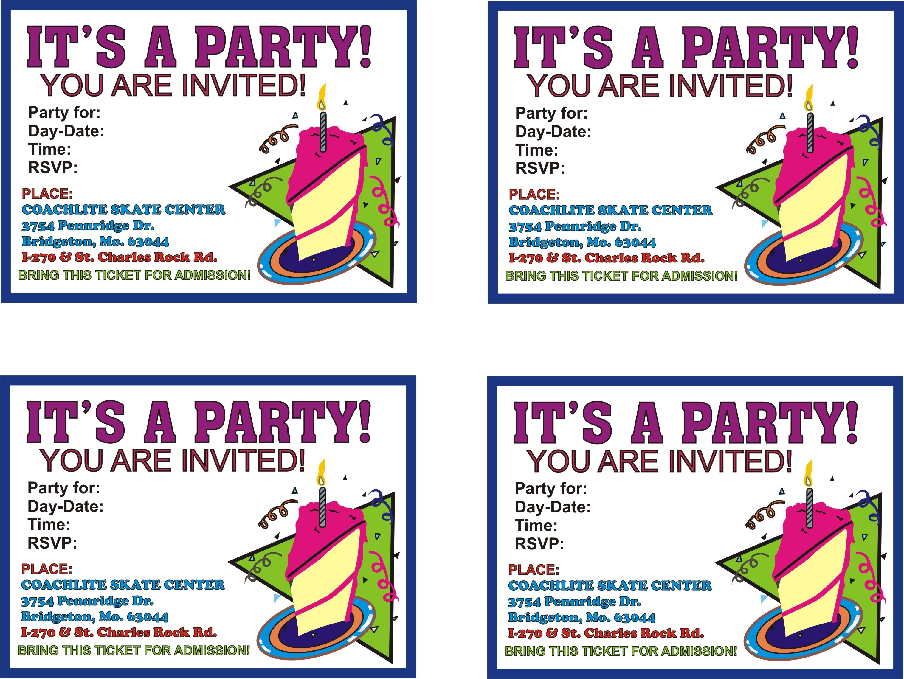 Free Printable Birthday Flyer Templates Party Invitations Nuruf - Free Printable Birthday Party Flyers
