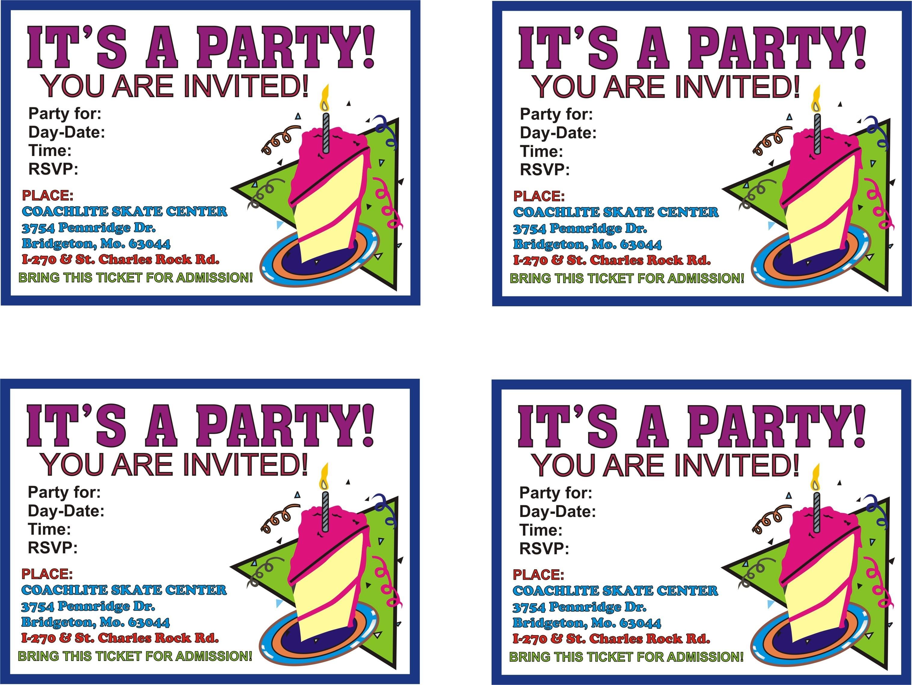 Free Printable Birthday Flyer Templates Party Invitations Nuruf - Free Printable Birthday Party Flyers