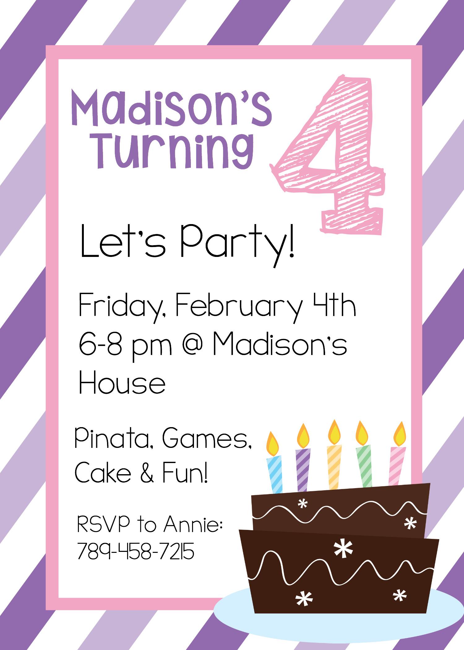 Free Printable Birthday Invitation Templates - Free Printable Birthday Invitation Cards