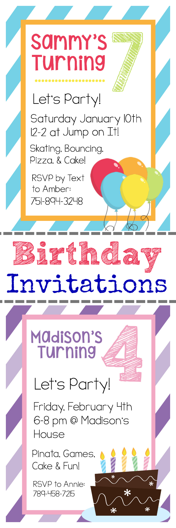 Free Printable Birthday Invitation Templates - Free Printable Birthday Invitations With Pictures