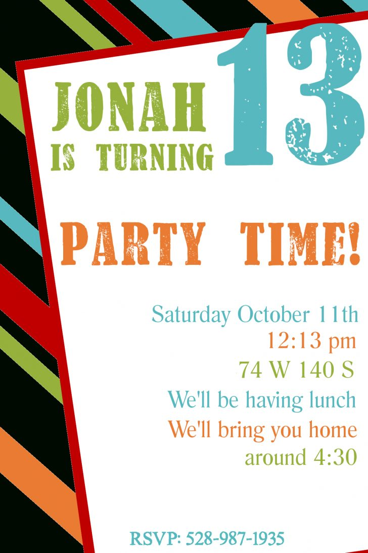 Happy Birthday Invitations Free Printable