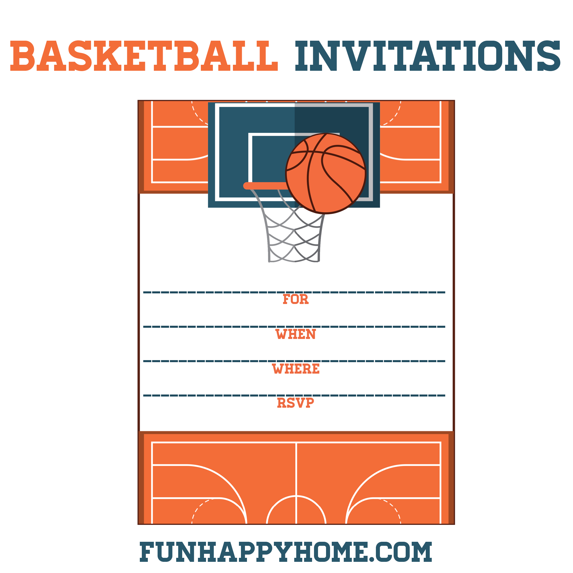 Free Printable Birthday Invitations Basketball | Download Them And - Free Printable Sports Birthday Invitation Templates