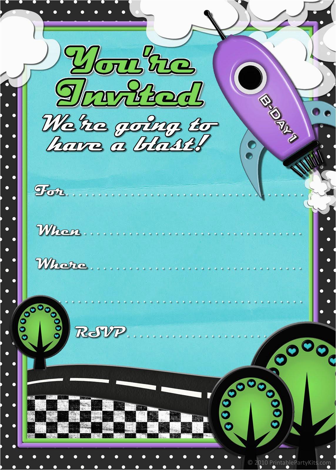 Free Printable Birthday Party Invitations For Boys | Birthdaybuzz - Free Printable Kids Birthday Cards Boys