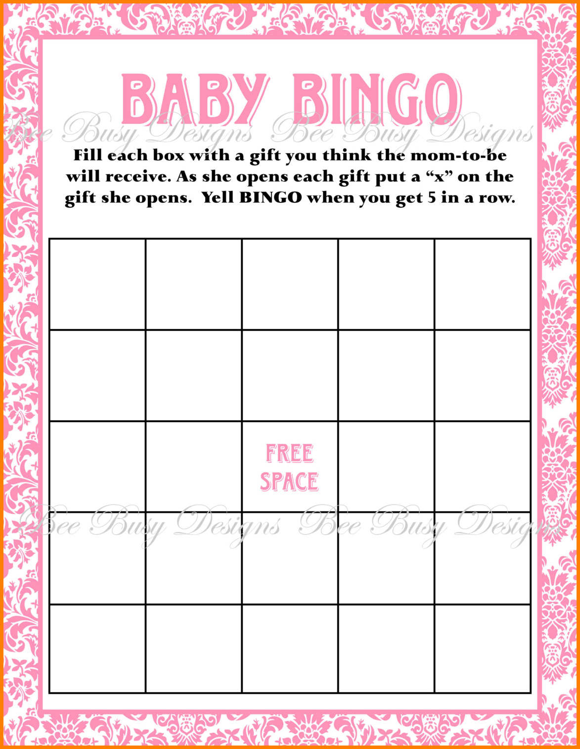 Free Printable Blank Baby Shower Bingo Cards - Baby Shower Ideas - Free Printable Baby Shower Bingo Cards