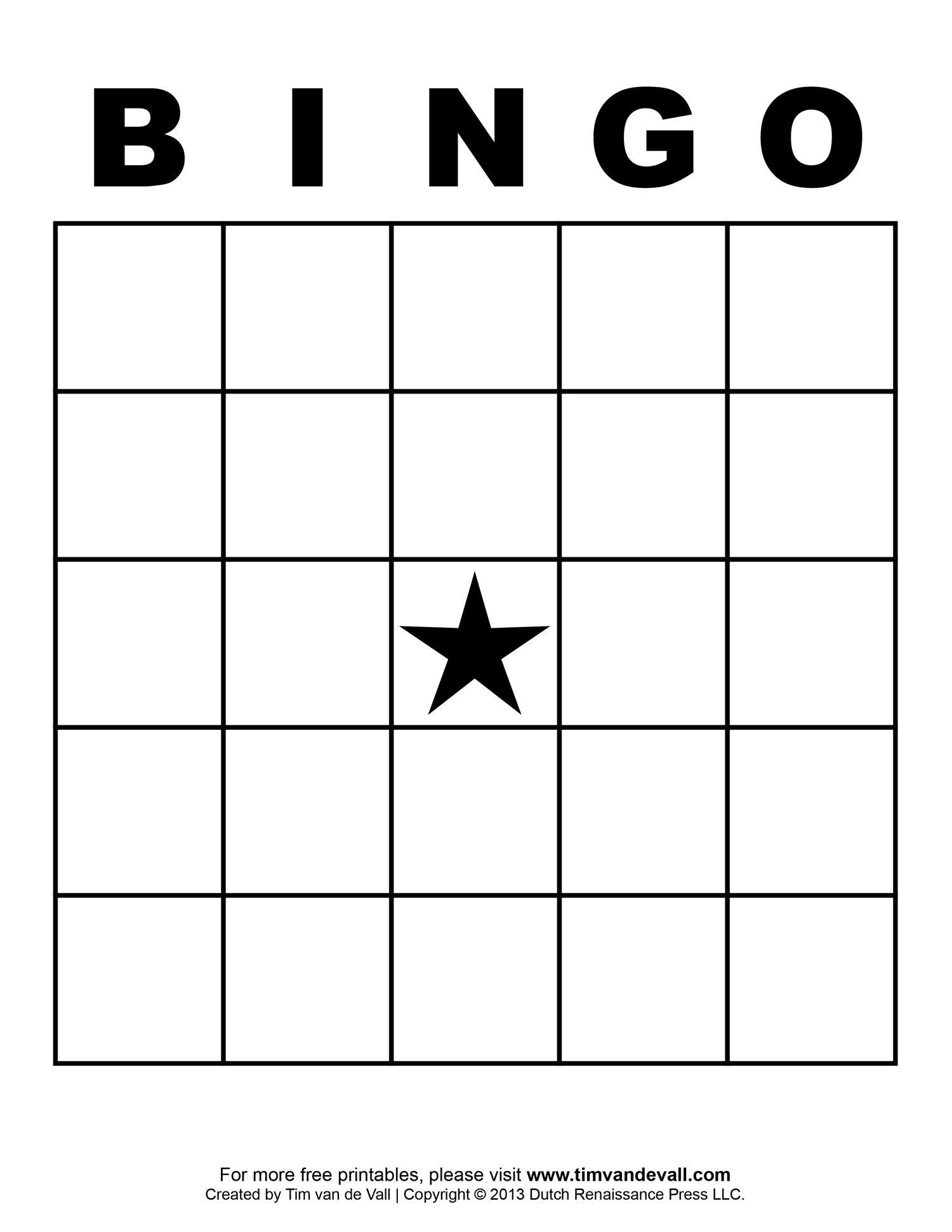 Free Printable Blank Bingo Cards Template 4 X 4 | Classroom | Sight - Free Printable Bingo Cards 1 100