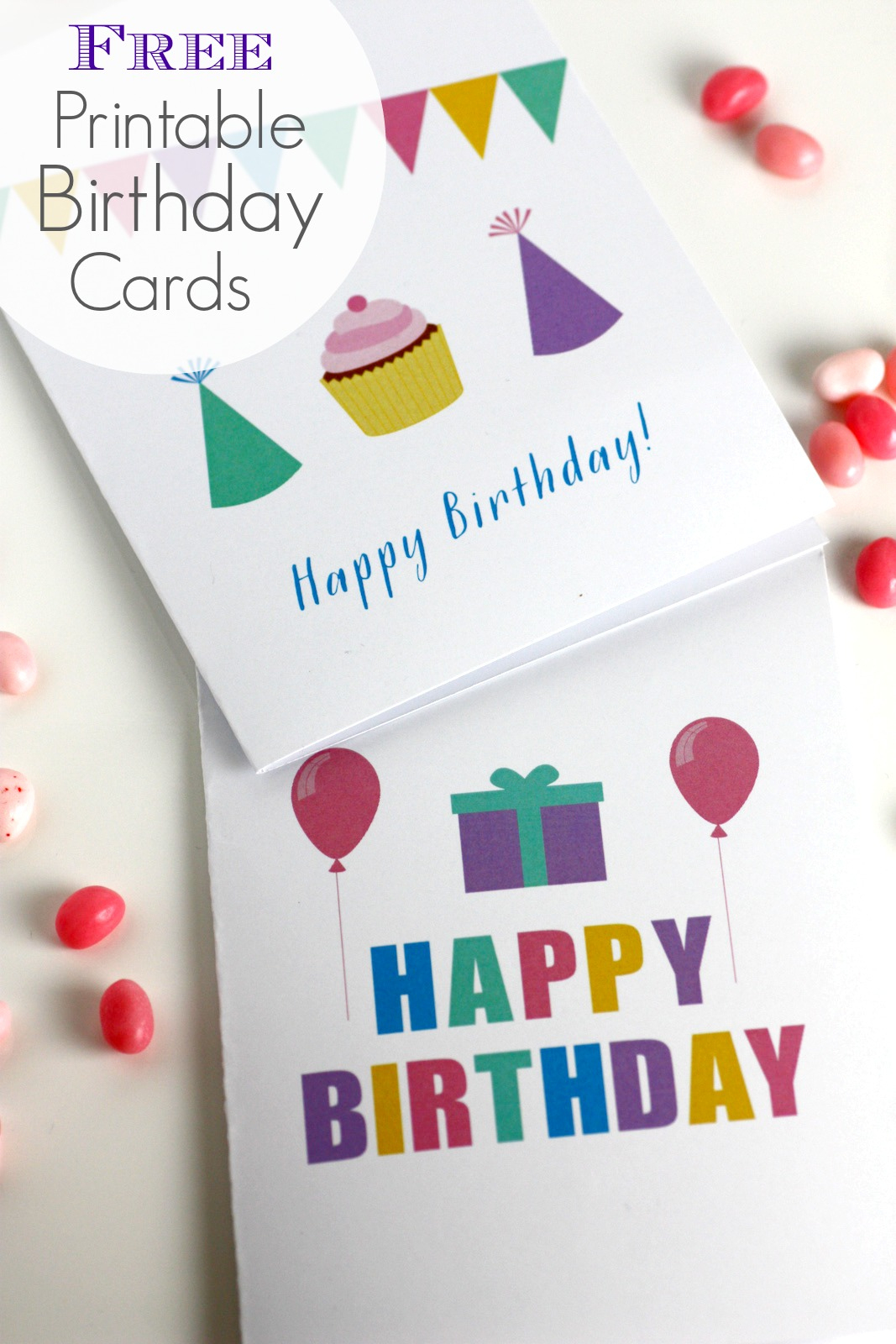 Free Printable Blank Birthday Cards | Catch My Party - Free Printable Greeting Cards