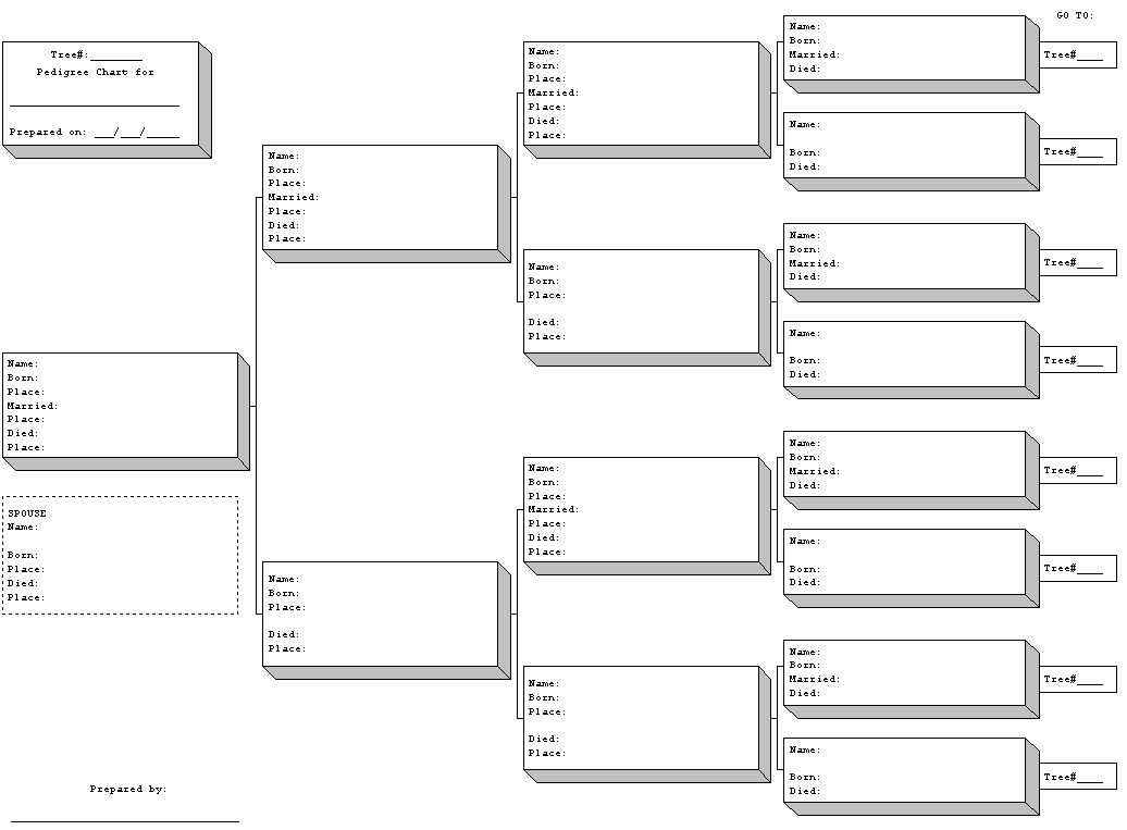 Free Printable Blank Family Tree Charts | Geneology | Pinterest - Free Printable Genealogy Worksheets