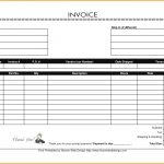 Free Printable Blank Invoice Templates Filename #84775433675 – Free   Free Printable Blank Invoice