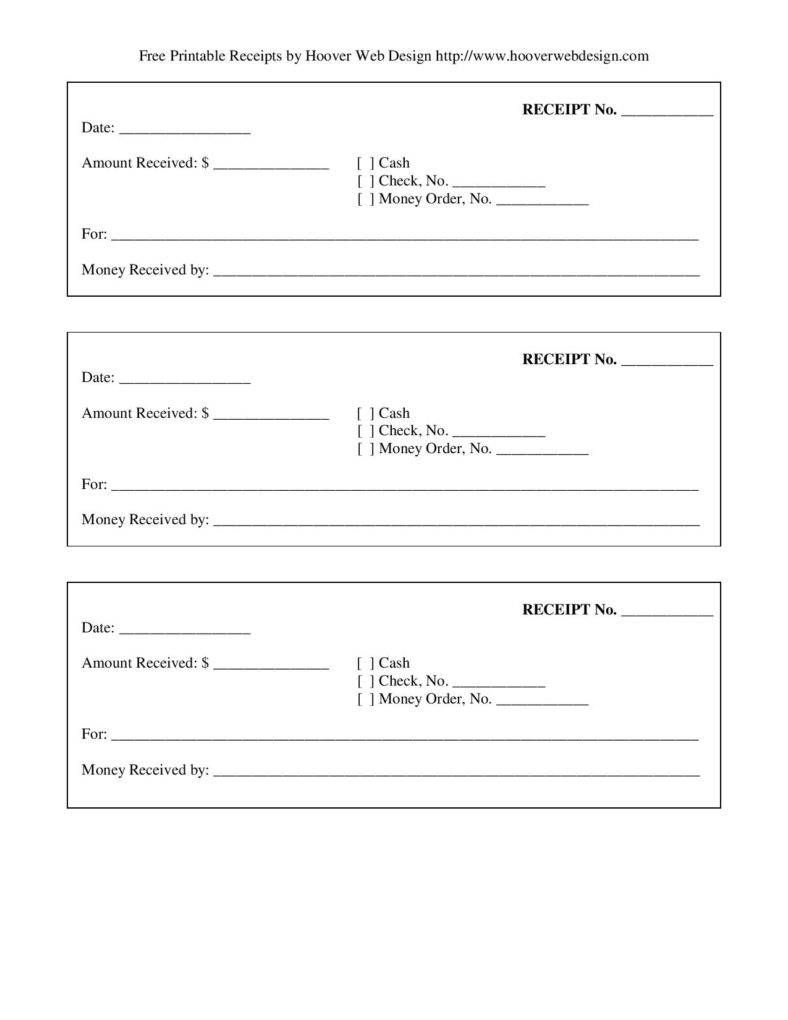 Free-Printable-Blank-Receipt-Form-Template-Page-001 | Template's For - Free Printable Blank Receipt Form