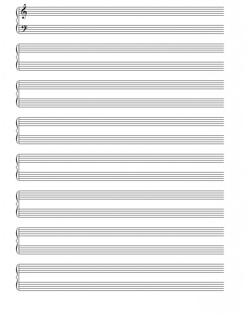 Free Printable Blank Sheet Music - Pike.productoseb.co | Free - Free Printable Blank Sheet Music