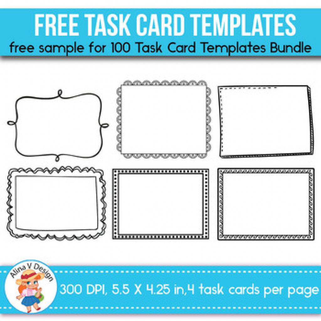 Free Printable Blank Task Cards | Free Printable - Free Printable Blank Task Cards