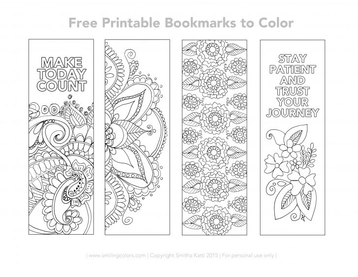 Free Printable Blank Bookmarks