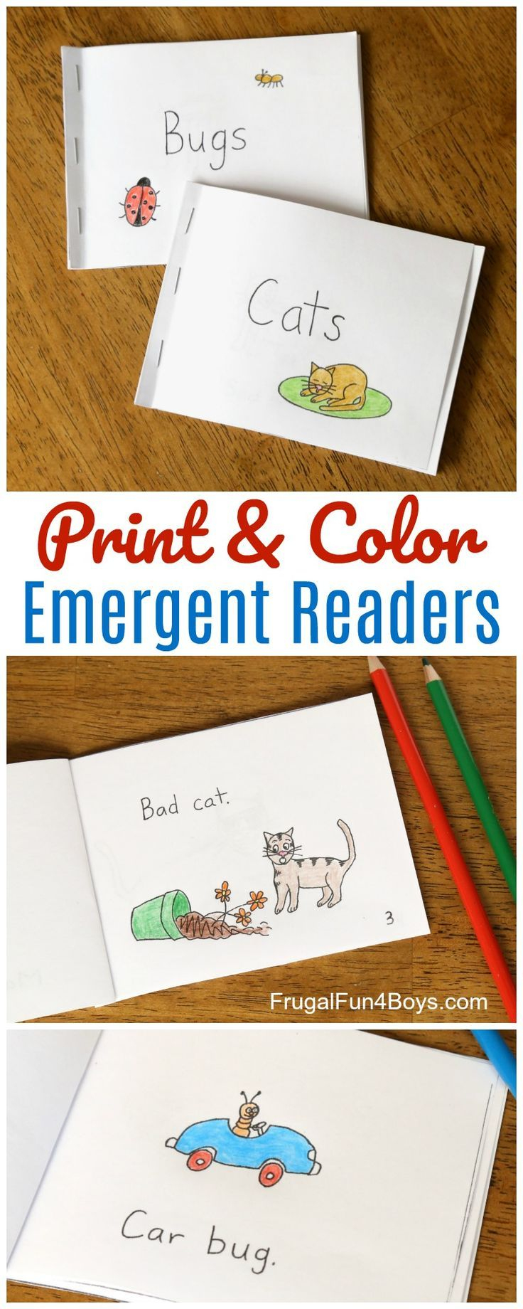 Free Printable Books For Beginning Readers - Level 1 (Easy | Easy - Free Printable Phonics Books For Kindergarten