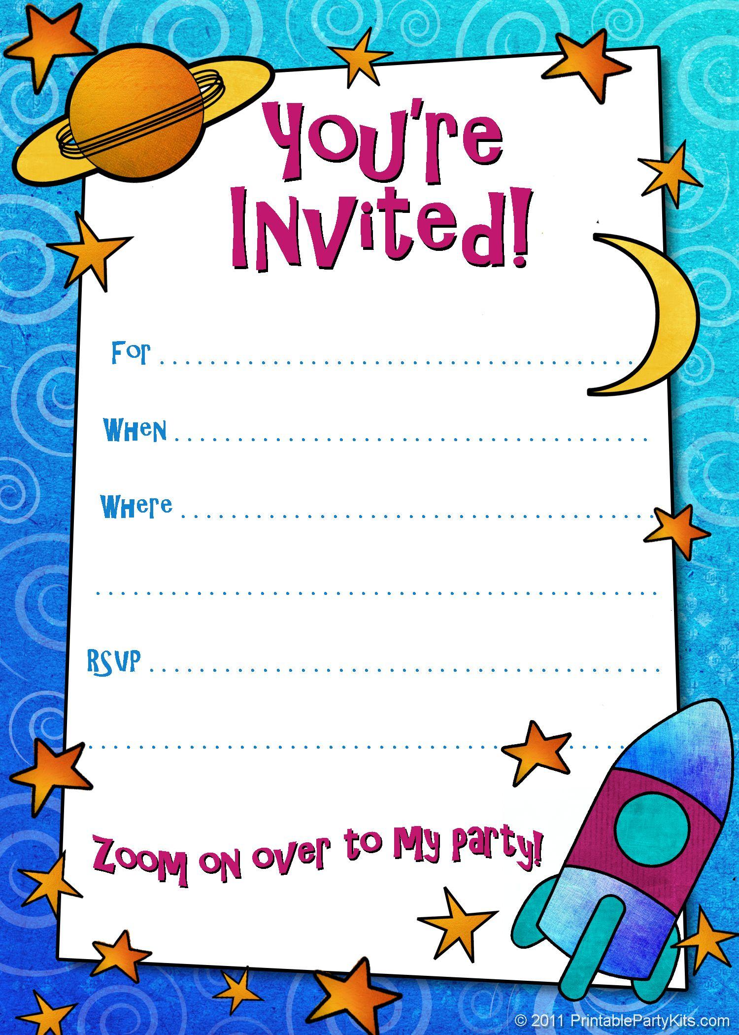 Free Printable Boys Birthday Party Invitations | Birthday Party - Free Printable Kids Birthday Cards Boys
