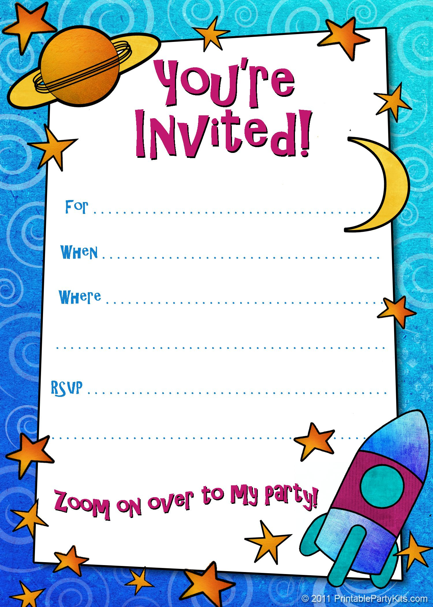 Free Printable Boys Birthday Party Invitations | Birthday Party - Free Printable Surprise Party Invitations