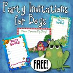 Free Printable Boys Birthday Party Invitations | Party Printables – Free Printable Toddler Birthday Invitations