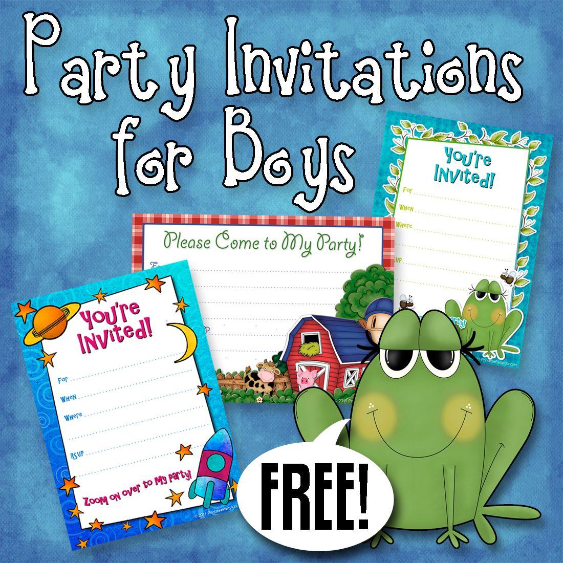 Free Printable Boys Birthday Party Invitations   Party Printables - Free Printable Toddler Birthday Invitations