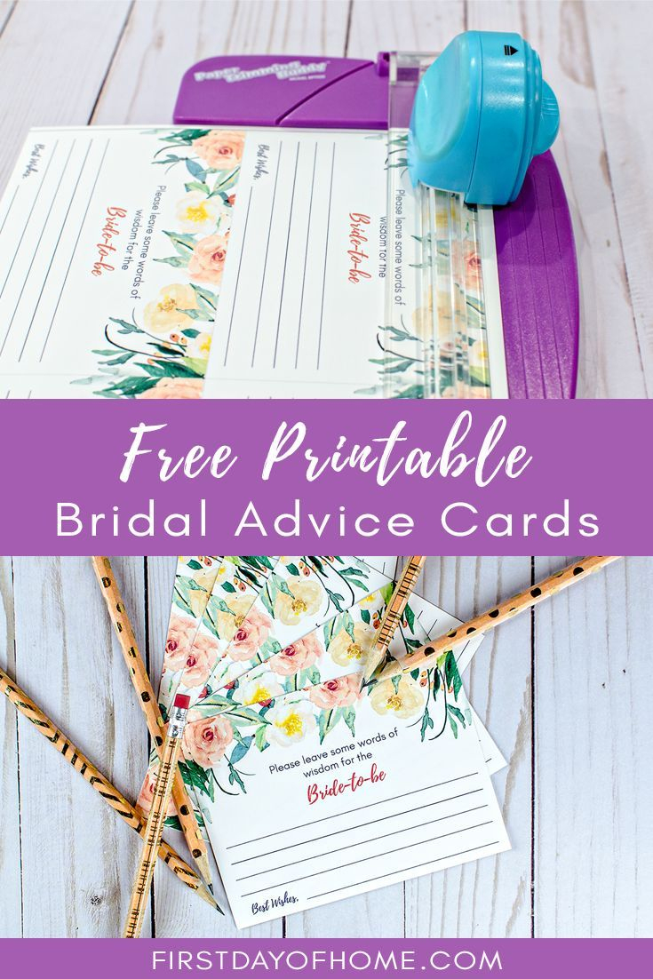 photograph relating to Free Printable Bridal Shower Advice Cards named Cost-free Printable Bridal Shower Information Playing cards Cost-free Printable
