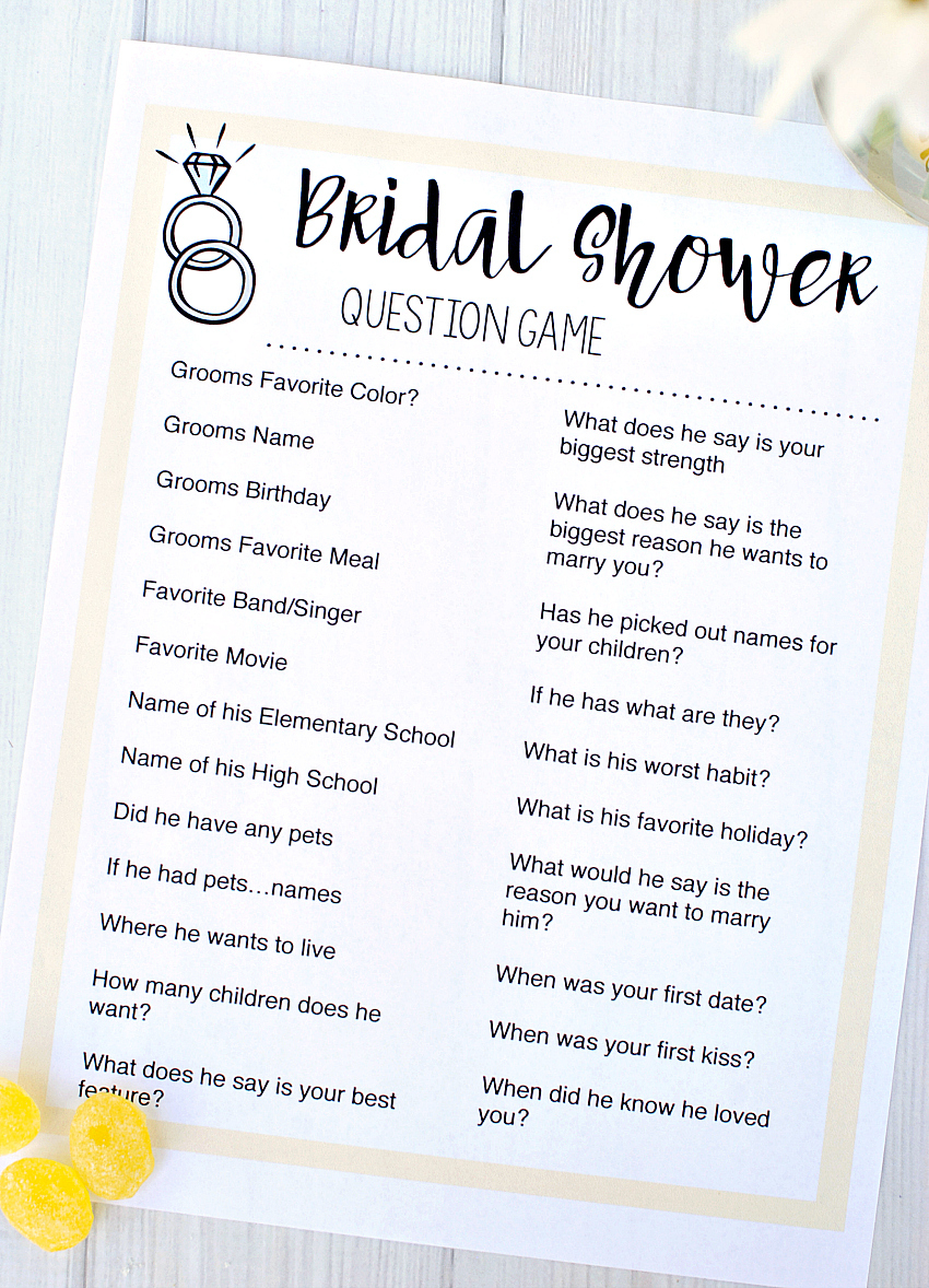 Free Printable Bridal Shower Games – Fun-Squared - Free Printable Household Shower Games