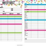 Free Printable Budget Planner | Bestprintable231118   Free Printable Budget Planner