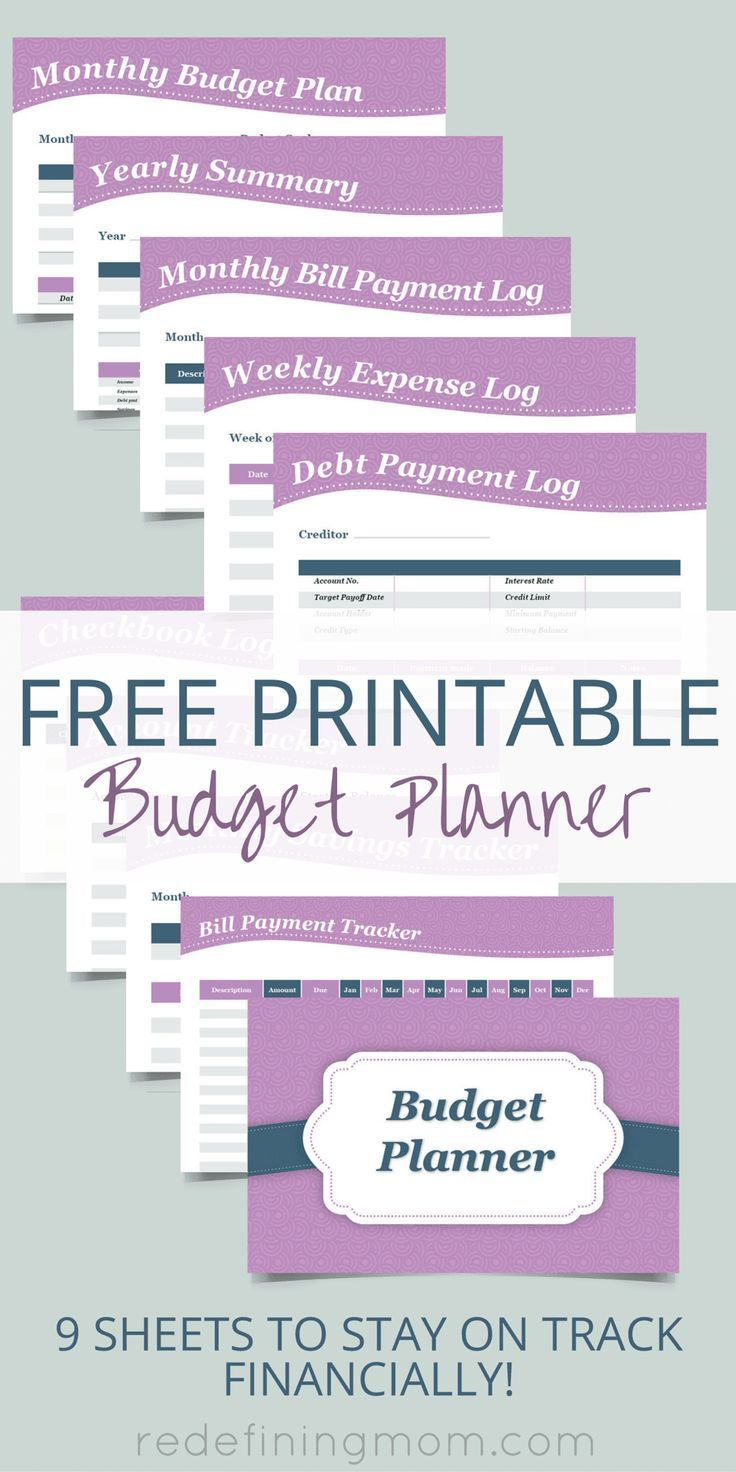 Free Printable Budget Planner   Top Pins From Top Bloggers   Budget - Free Printable Financial Planner 2017