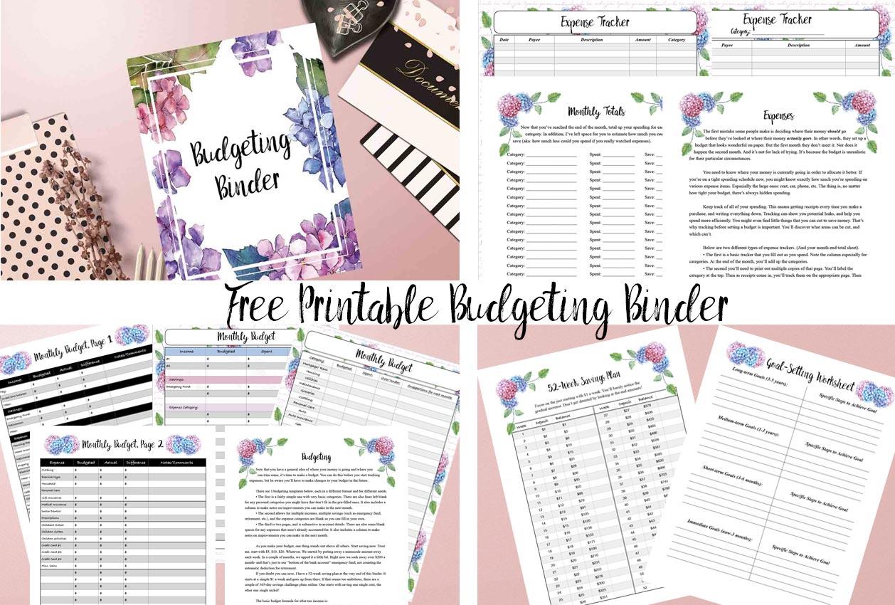 Free Printable Budgeting Binder: 15+ Pages! - Free Printable Budget Binder