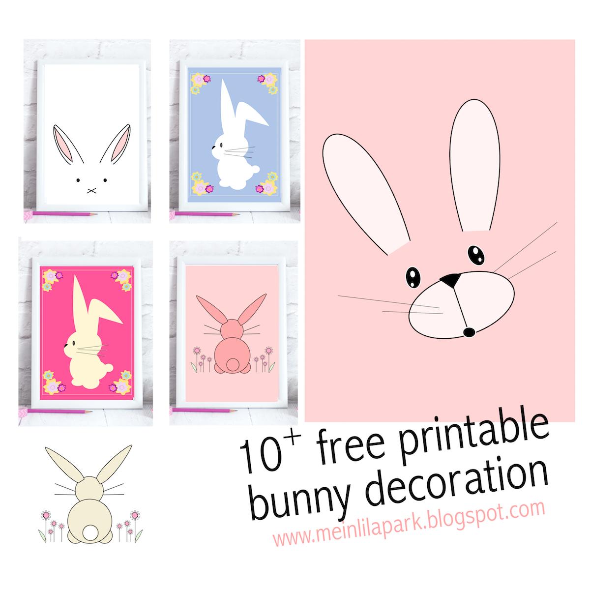 Free Printable Bunny Nursery Decoration - Round Up   Meinlilapark - Free Printable Bunny Pictures