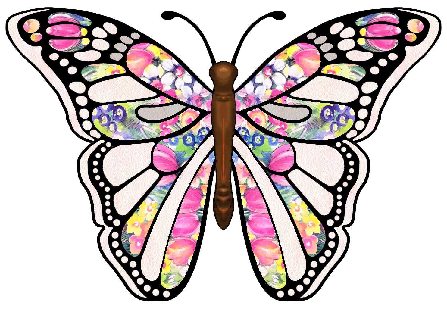 Free Printable Butterfly Clip Art Freeuse Download - Rr Collections - Free Printable Butterfly