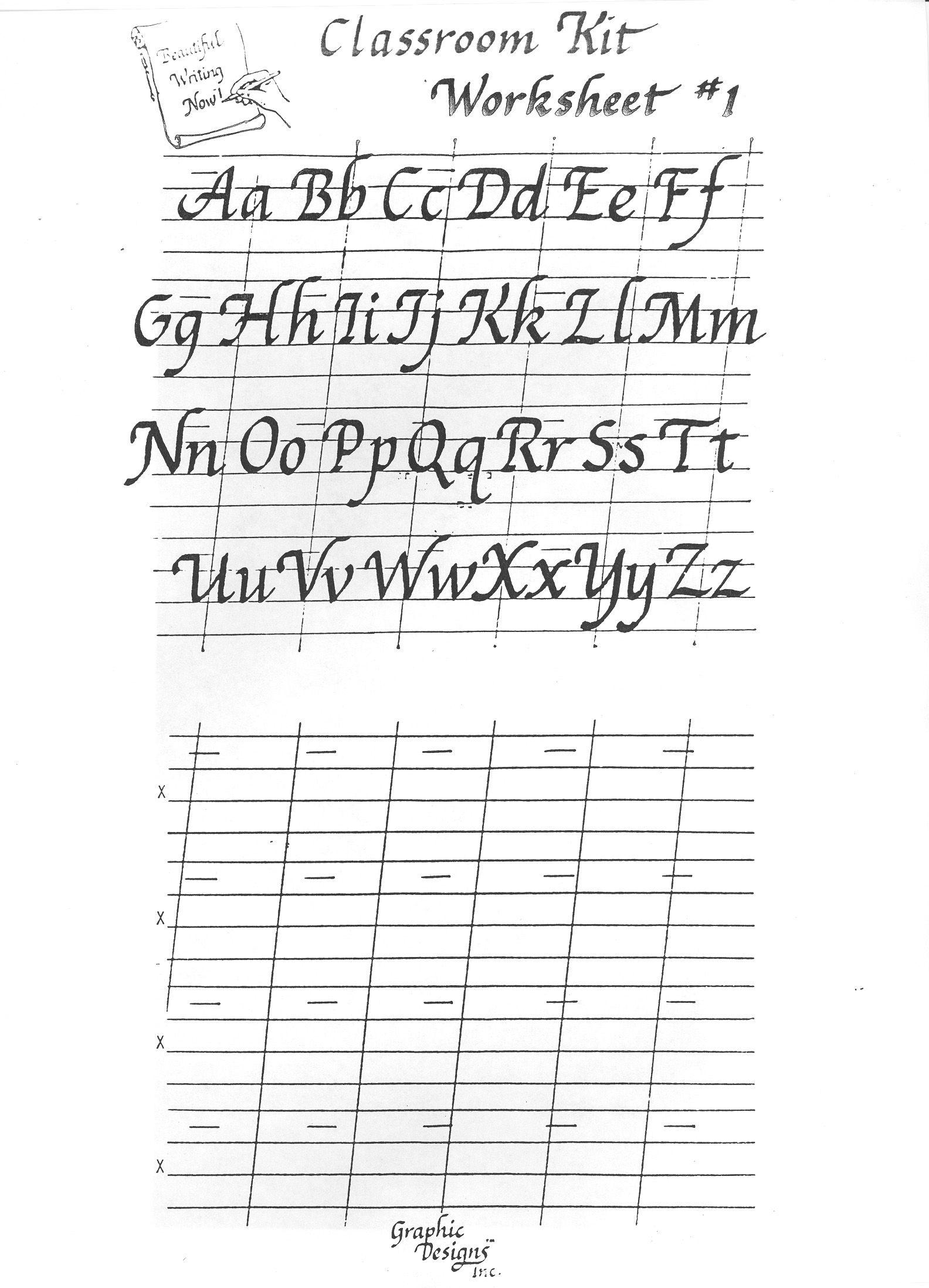 Free Printable Calligraphy Alphabet Practice Sheets   Scrapbooking - Calligraphy Practice Sheets Printable Free