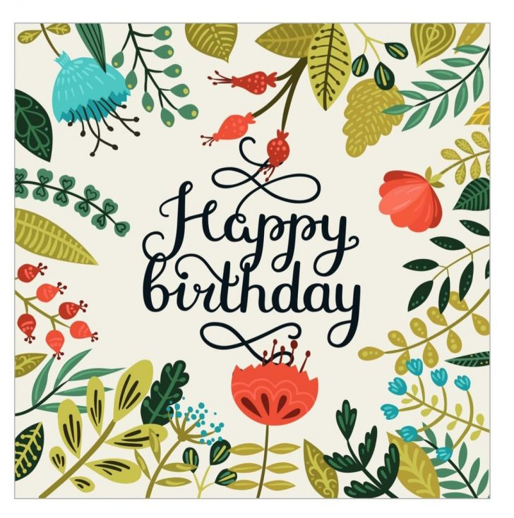 Happy Birthday Free Printable