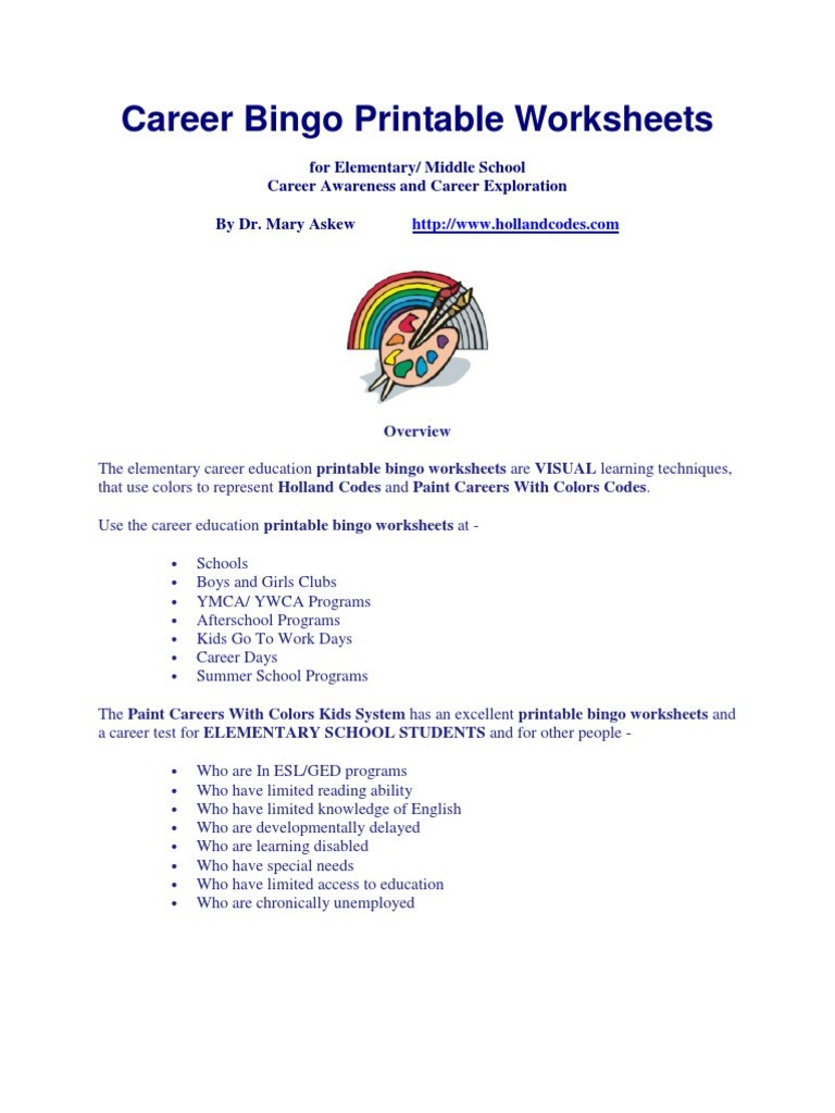 Free Printable Career Test For High School Students – Orek - Free Printable Aptitude Test