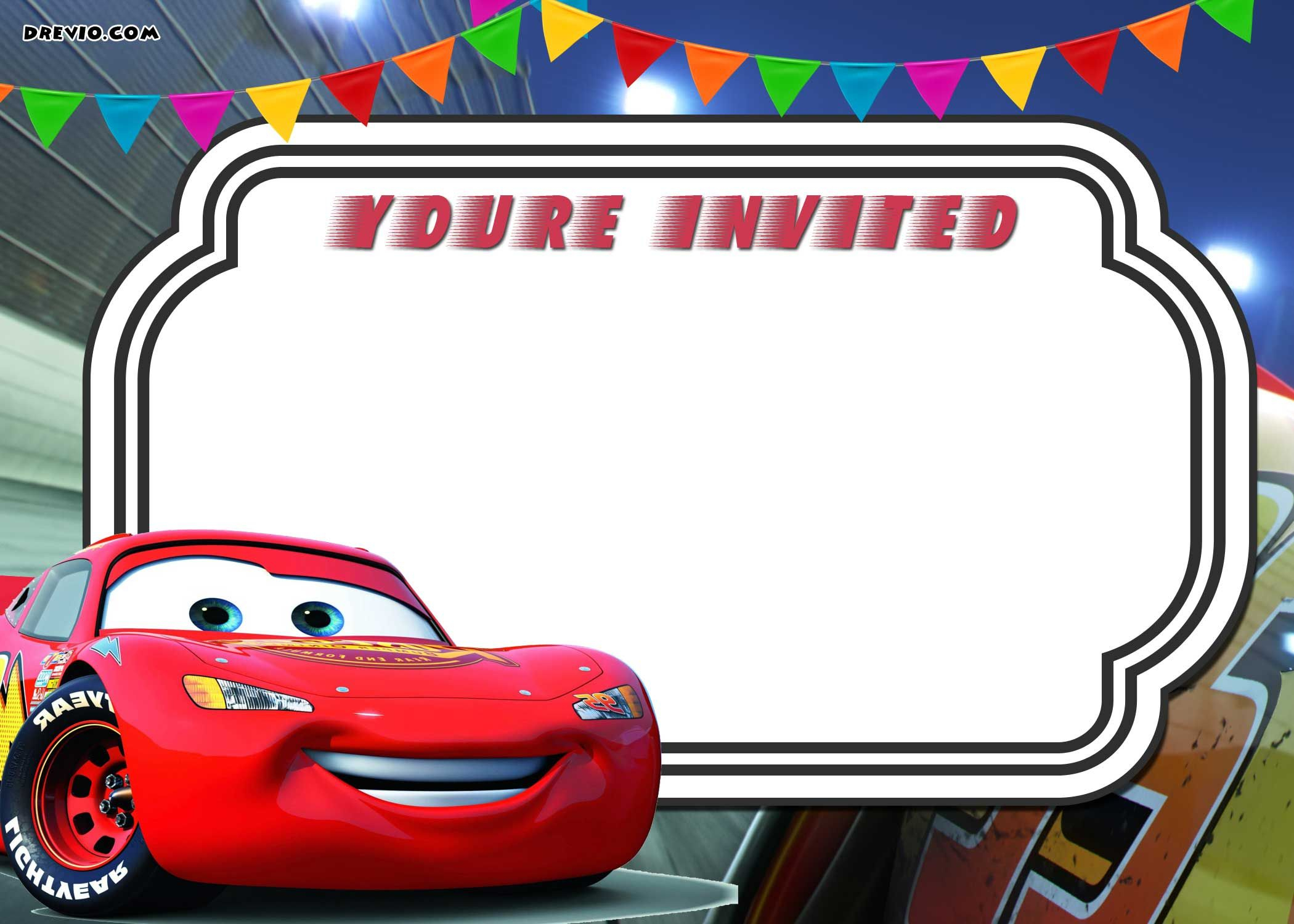 Free Printable Cars 3 Lightning Mcqueen Invitation | Go | Cars - Free Printable Birthday Invitations Cars Theme