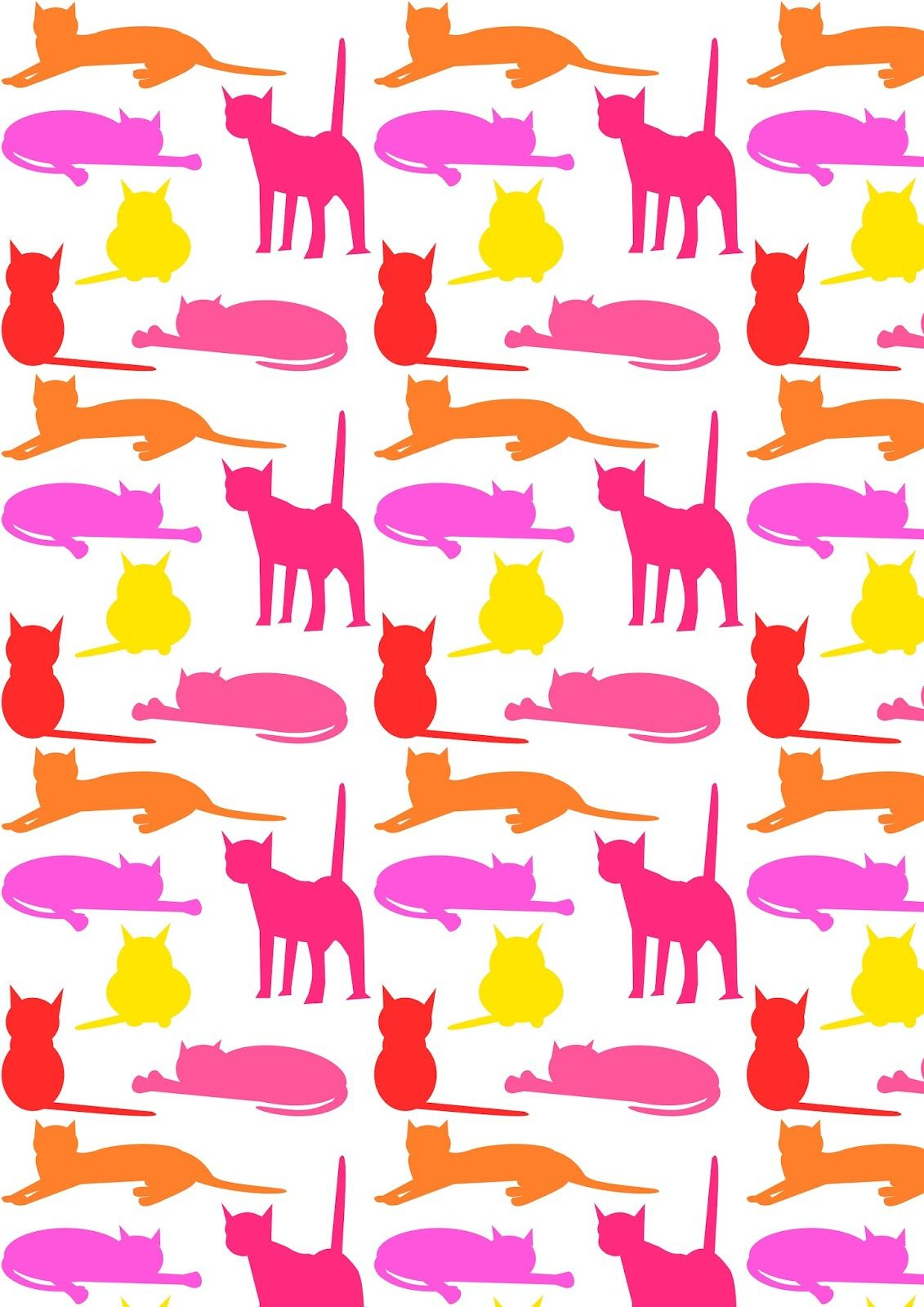 Free Printable Cat Pattern Paper | Catalogers | 2 Scrapbooking | Cat - Free Printable Cat Silhouette