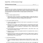 Free Printable Cell Phone Policy Form (Generic) | Sample Printable   Free Printable Legal Documents