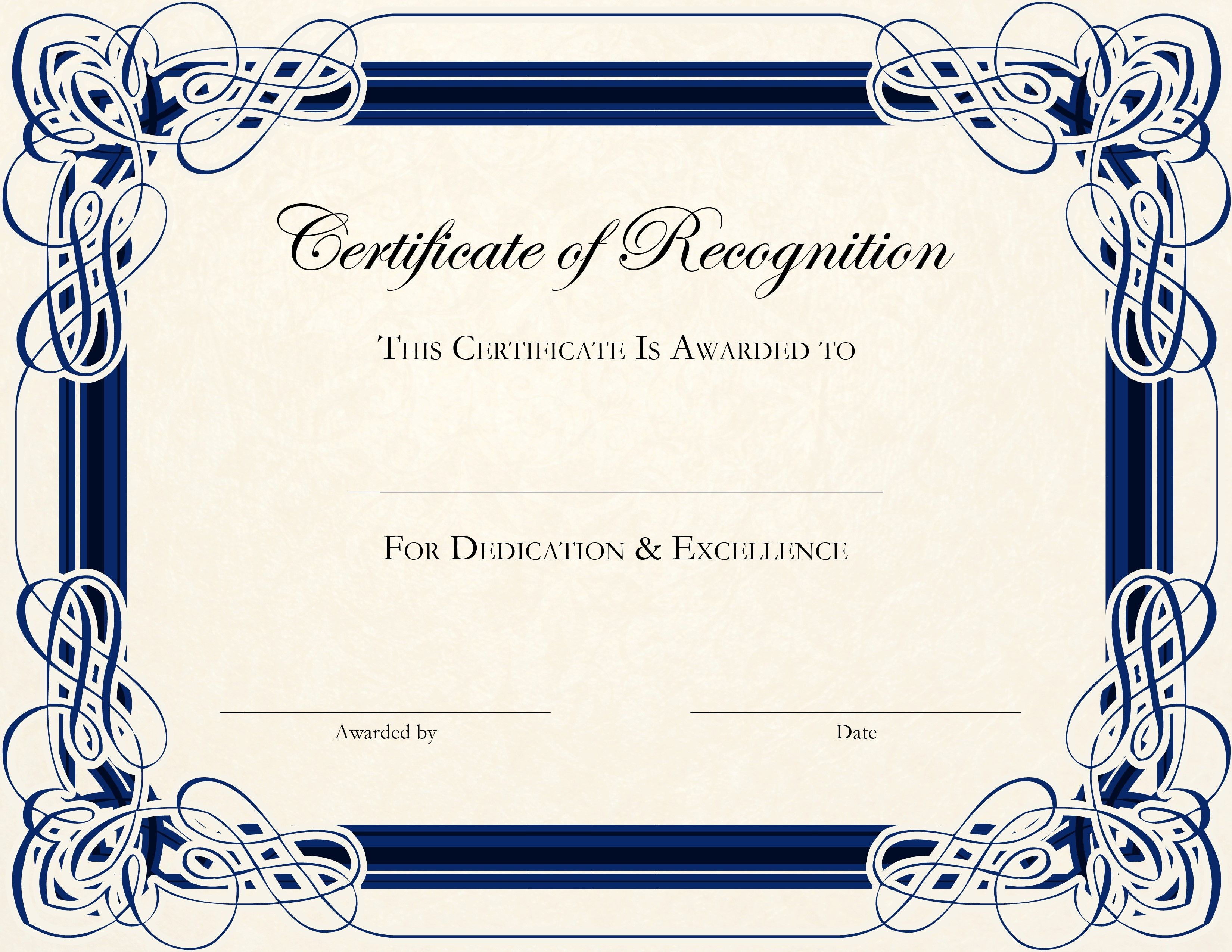 Free Printable Certificate Templates For Teachers | Besttemplate123 - Certificate Of Completion Template Free Printable