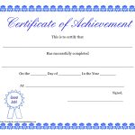 Free Printable Certificates Advanced Doc Printable Templates – Free Printable Certificates Of Accomplishment