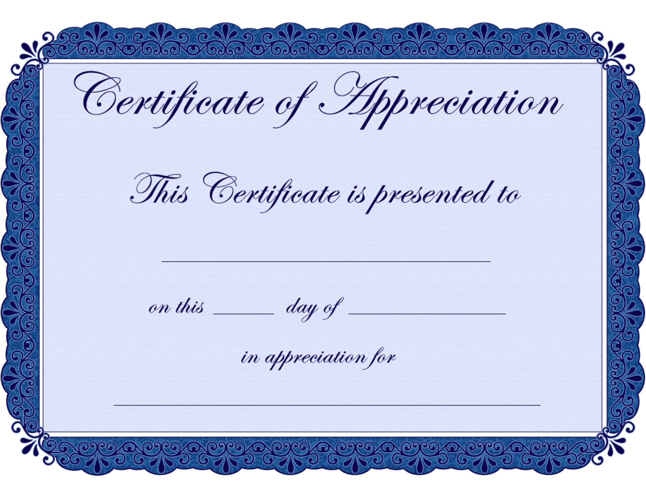 Free Printable Certificates Certificate Of Appreciation Certificate - Commitment Certificate Free Printable