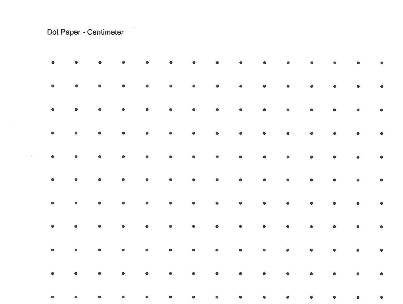 Free Printable Cetameter Dot Grid   Centimeter Dot Graph Paper For - Free Printable Square Dot Paper